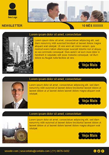modelo template newsletter
